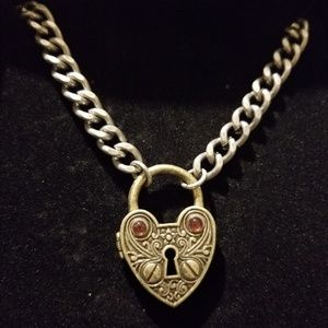JEWELMINT Unlock My Heart Necklace